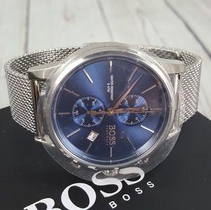 Hugo Boss Blue Stainless Steel Watch